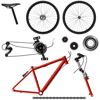 component parts of a bicycle